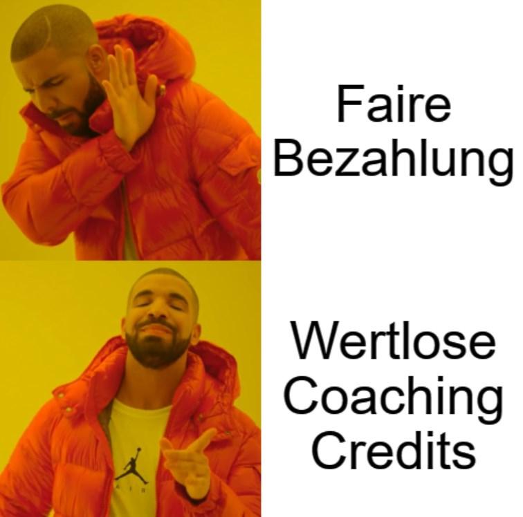 Meme – Unbezahlte Praktika