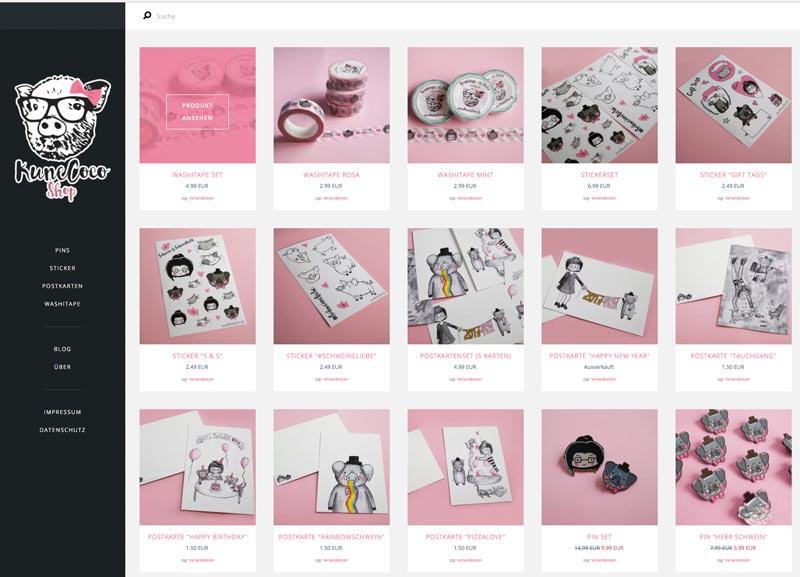 Eigener Online Shop: Shopsystem Tictail