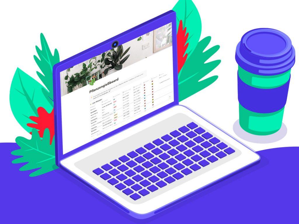 Notion Template: Pflanzengießboard