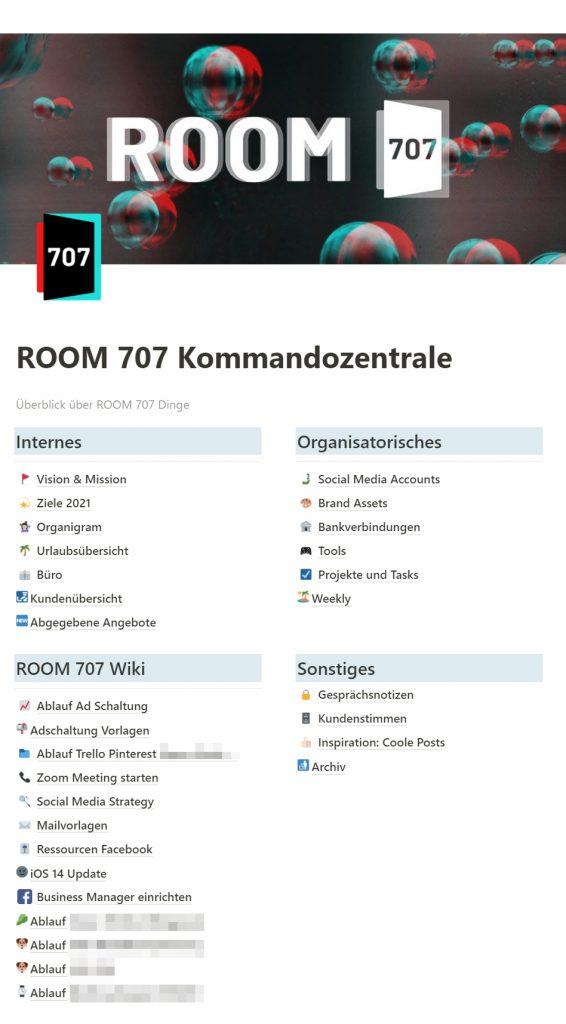jenni.works – Projektmanagement in Notion – Kommandozentrale