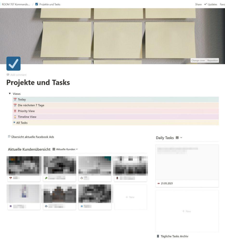 jenni.works – Notion Projekte und Tasks